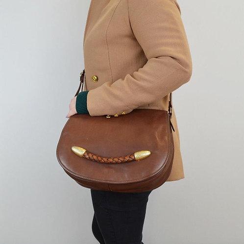 Vintage Soft Leather Saddle Bag