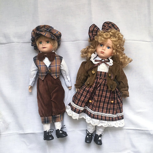 Set of two Porcelain Dolls from Tchibo, Germany