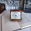 Thumbnail: Red German Dugena Portable Folding  Travel/Table Alarm Clock