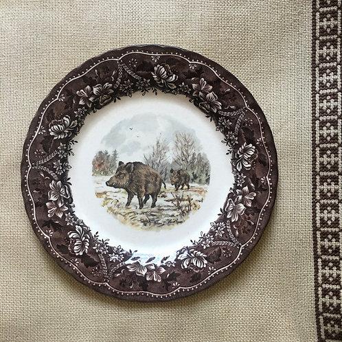 Barratts of Staffordshire Vintage Wild Boar Wall Decor Plate