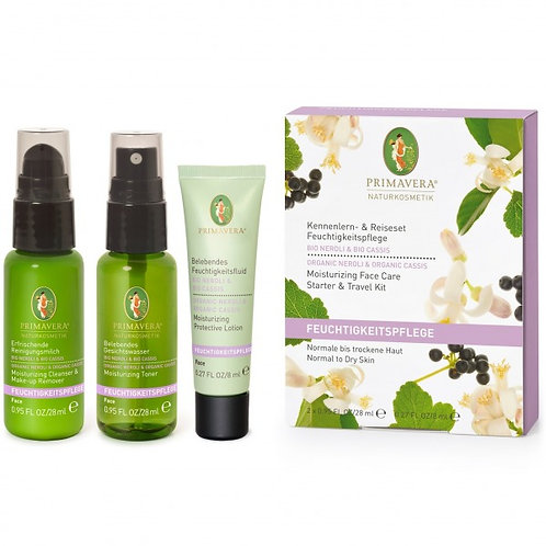 Primavera Neroli Cassis Moisturizing Face Care Travel Kit 有機橙花黑醋栗保濕旅行組