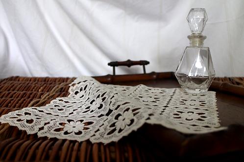 Handmade Cream White Crochet Doily/ Table Cloth