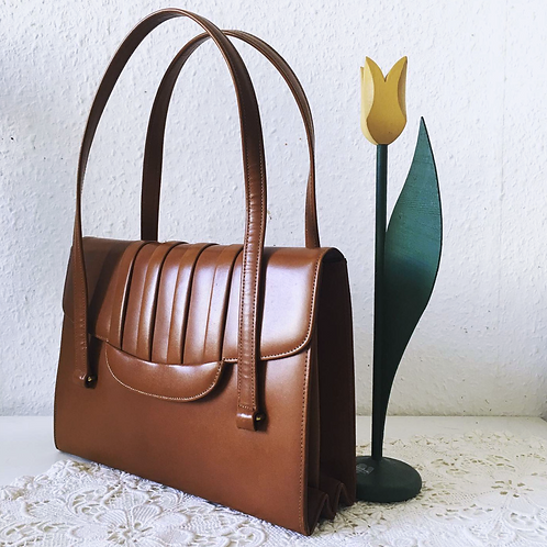 歐洲古著包 Vintage Camel Brown Handbag