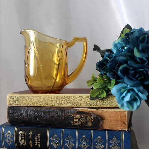 Art Deco Vintage Amber Glass Jug