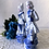Thumbnail: Beautiful Blue and White Porcelain Victorian Pair of Figurines