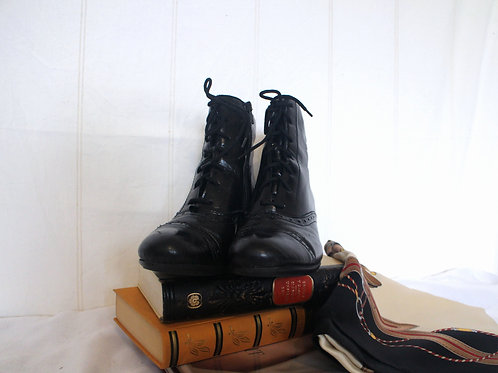 Rieker Vintage Black Ankle Boots, EU 38