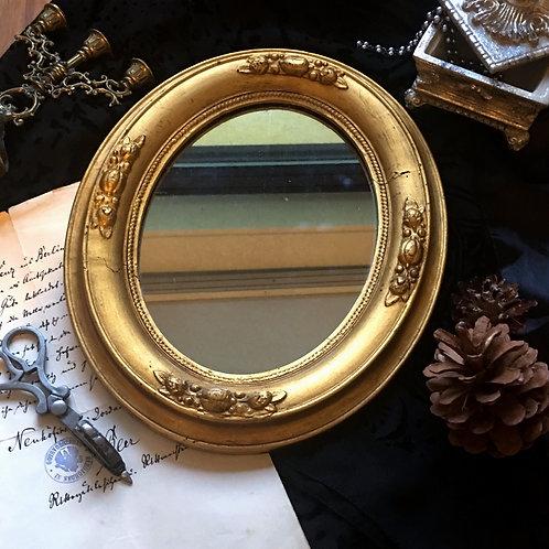 Decorative 19th Century Baroque Wood Framed Wall Mirror