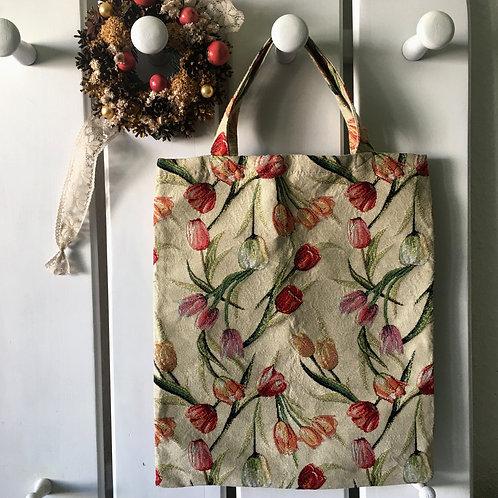中古花卉繡布袋