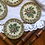Thumbnail: 50s Retro Floral Coasters with Embroidery Inlay
