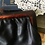 Thumbnail: Vintage 70s Kiss Lock Leather Clutch /Cosmetic Bag
