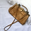 Thumbnail: Vintage  Camel Framed Handbag / Crossbody Bag