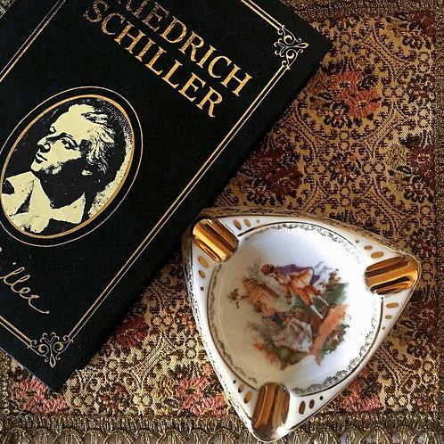Vintage German Schumann Porcelain Triple Ashtray