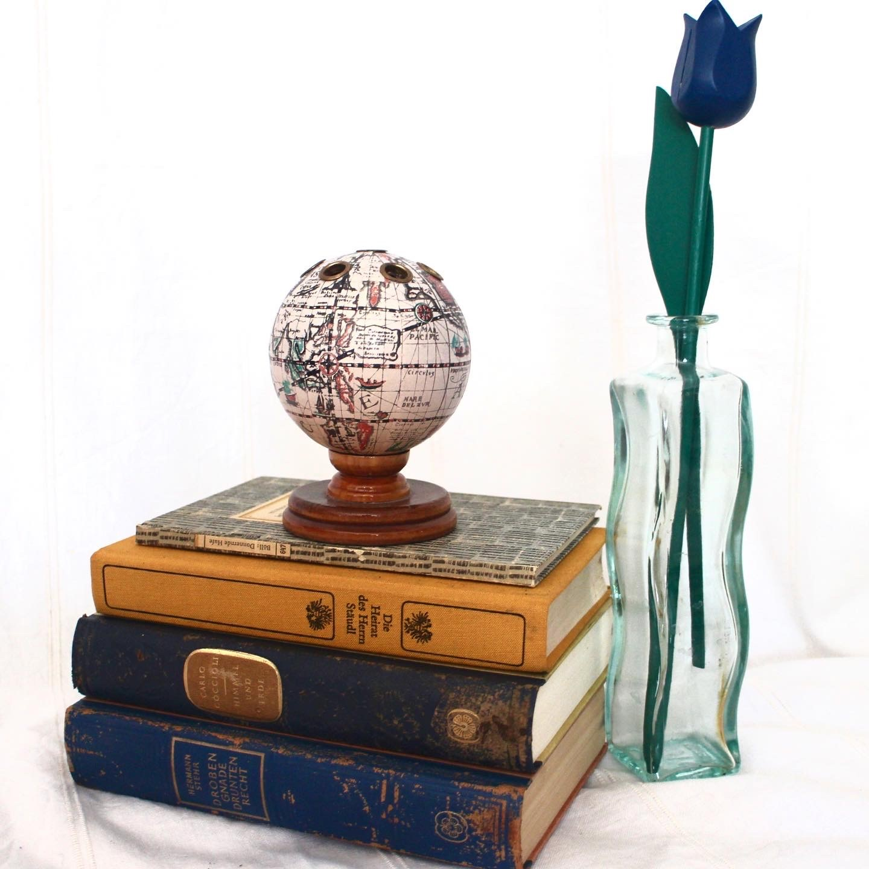 Vintage Mid Century Globe Pen Holder