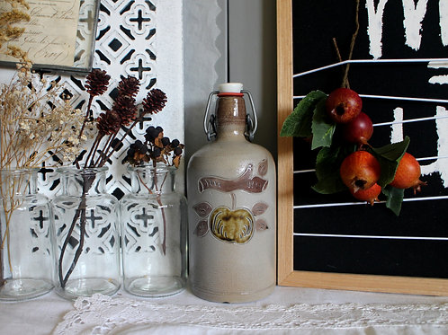 Vintage German 60s  Ceramic Juice Bottle