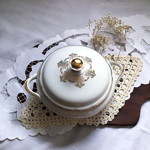 Vintage Elegant J. Kronester Bavaria Fine China Soup Tureen With Lid