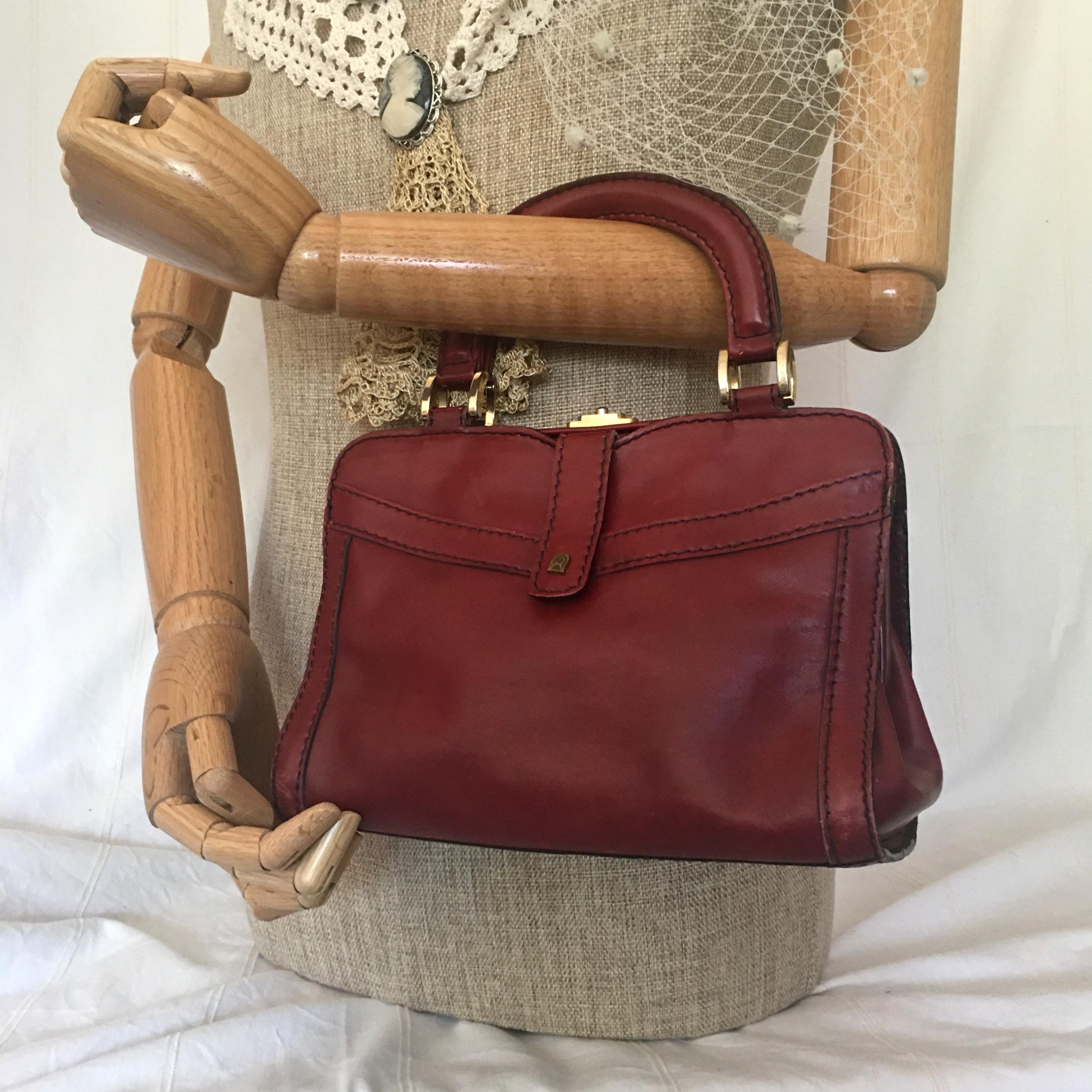 60s Vintage Burgundy Handbag