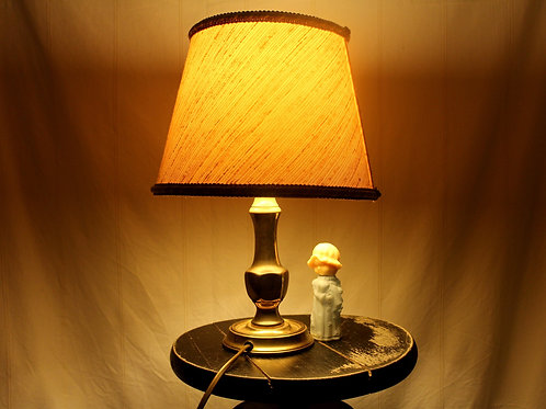 60s Table Lamp with Brass Base
