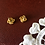 Thumbnail: 50-60s Golden Pin Earrings