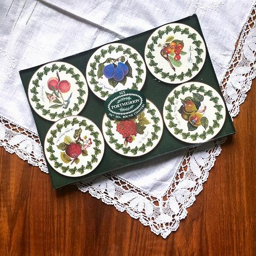 Vintage Original Portmeirion Botanical Round Coasters