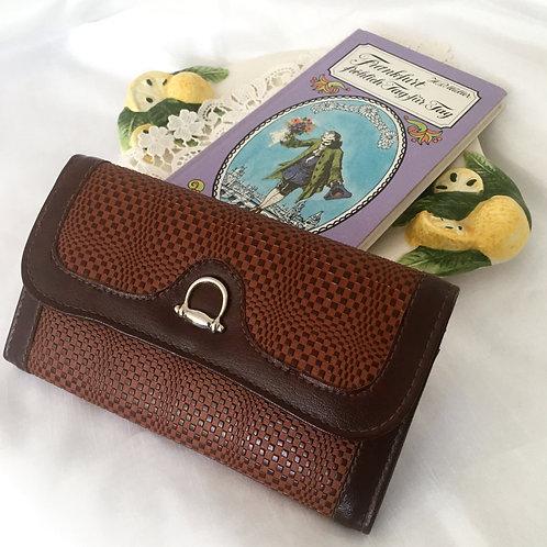 Vintage Dark Brown Leather Ladies Wallet