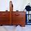 Thumbnail: Rare D.R.G.M German Antique Sewing Wooden Box