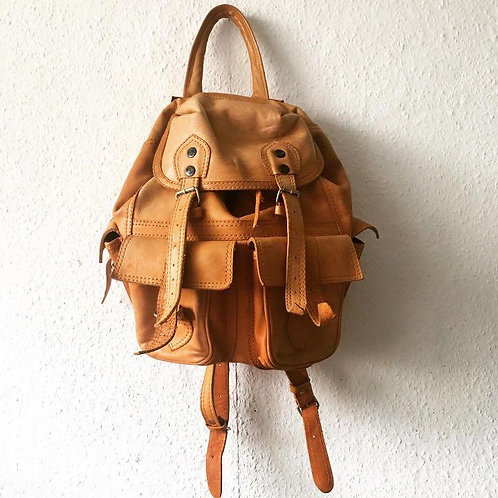 Natural Colour Genuine Leather Backpack