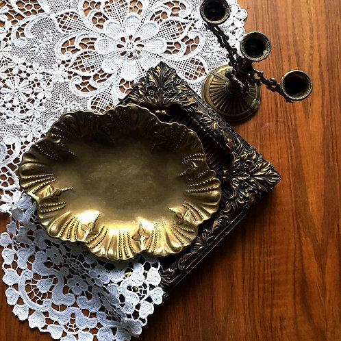 Brass Jewelry Bowl Ring Dish