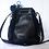 Thumbnail: Brunella Italian Smooth and Mock Croc Soft Geniune Leather Drawstring Bucket Bag