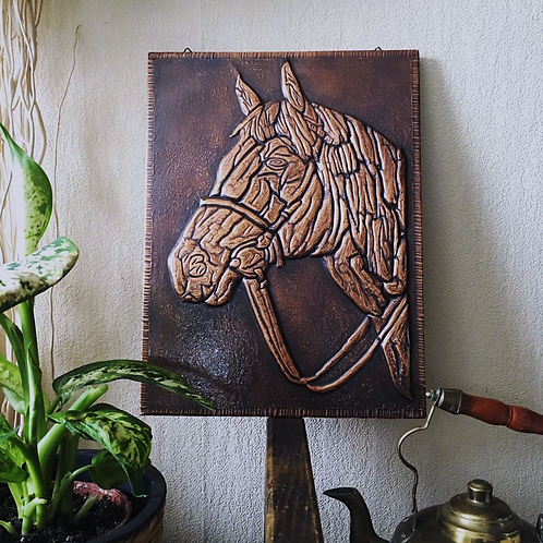 Beautiful Handmade Hammered Copper Art Horse