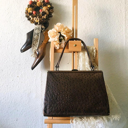 Vintage Ostrich Leather Kelly Bag