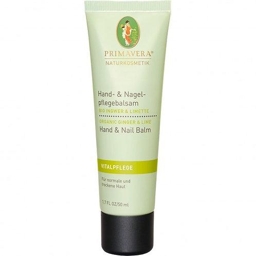 Primavera Organic Ginger&Lime Energizing Hand & Nail Cream 有機薑青檸活力護手霜