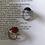 Thumbnail: 70s Vintage Adjustable Ring Black Silver Tone