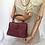 Thumbnail: 60s Vintage Burgundy Handbag