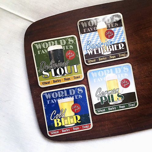 Beer Coasters Set