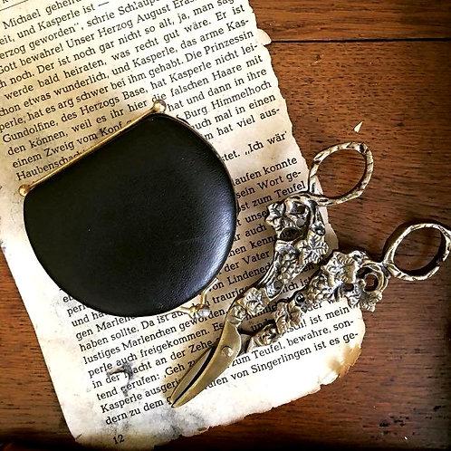 Vintage Black Coin Snap Purse