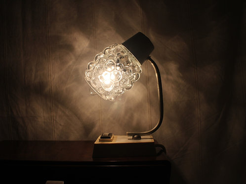 Original 1950s Stylish Vintage Rockabilly Bubble Table Lamp / Bedside Lamp