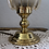 Thumbnail: Vintage German Glass Table Lamp in Gold Tone