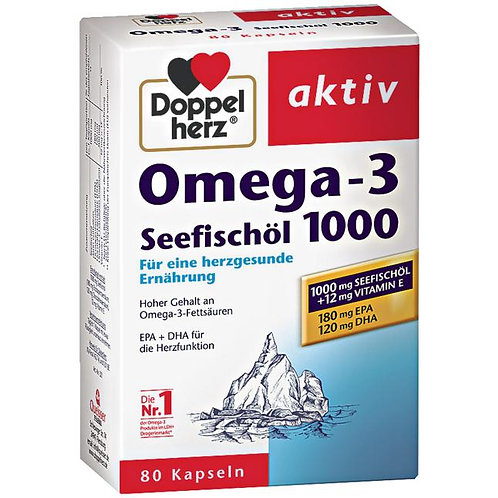 Doppelherz Aktiv Omega-3 Sea Fish Oil 1000MG 雙心牌深海魚油膠囊