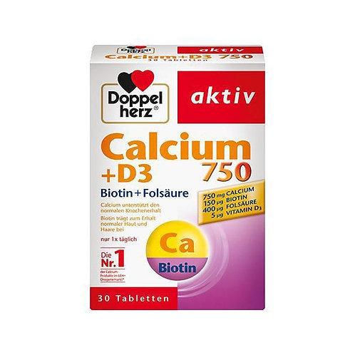 Doppelherz aktiv Calcium + Vitamin D3 雙心牌鈣+維他命D3營養片