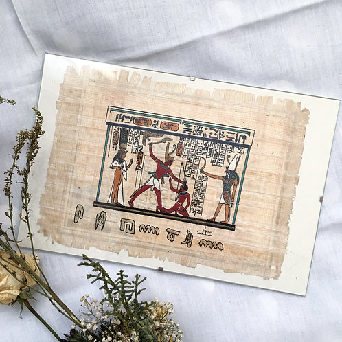 Classic Egyptian Print on Papyrus