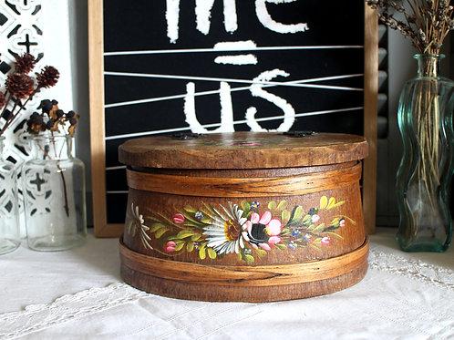 Rare Traditional German Bavarian Rustic Folk Art Wooden Box