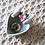 Thumbnail: Round Shape Rose Print On Glass Scarf Clip 復古絲巾扣
