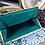 Thumbnail: Vintage Deep Emerald Green Satin Foldover Clutch