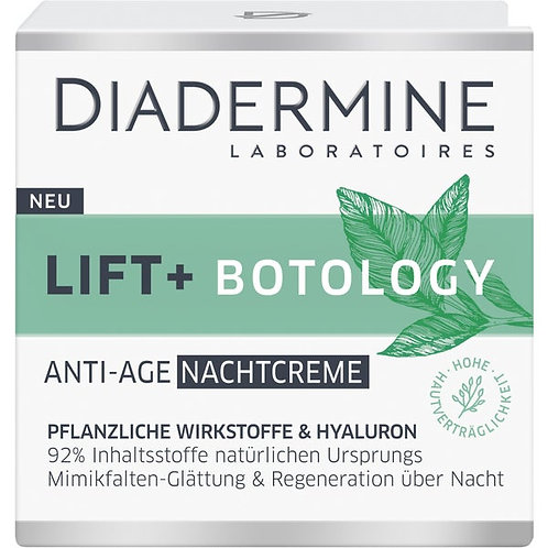 Diadermine Lift + Botology Anti-Age Night Cream 植物學提升抗衰老晚霜