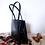 Thumbnail: 60s Vintage Small Leather Top Handle Bag Black