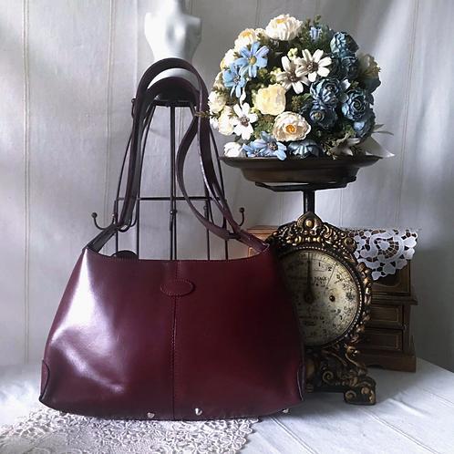 Classic JP Tod's  Bordeaux Shoulder Bag