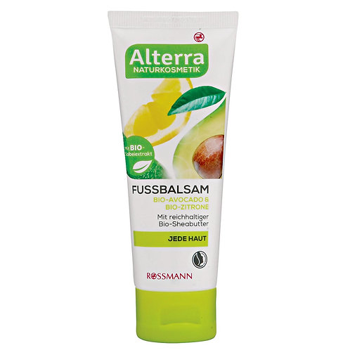 Alterra Organic Avocado & Lemon Foot Balm 有機牛油果檸檬護足膏
