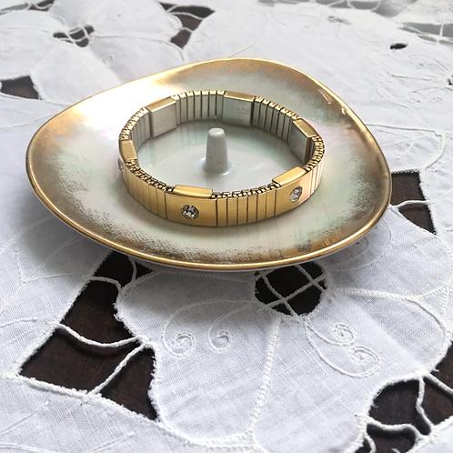 Vintage Magor Magnetic Bracelet with 6 Rhinestones