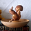 Thumbnail: Mid Century German GDR Wooden Nuts Bowl or Snack Tray