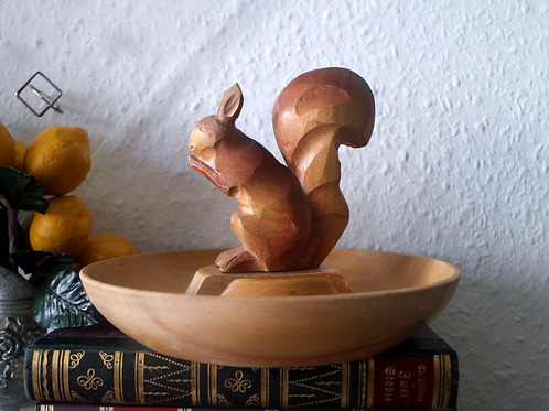 Mid Century German GDR Wooden Nuts Bowl or Snack Tray
